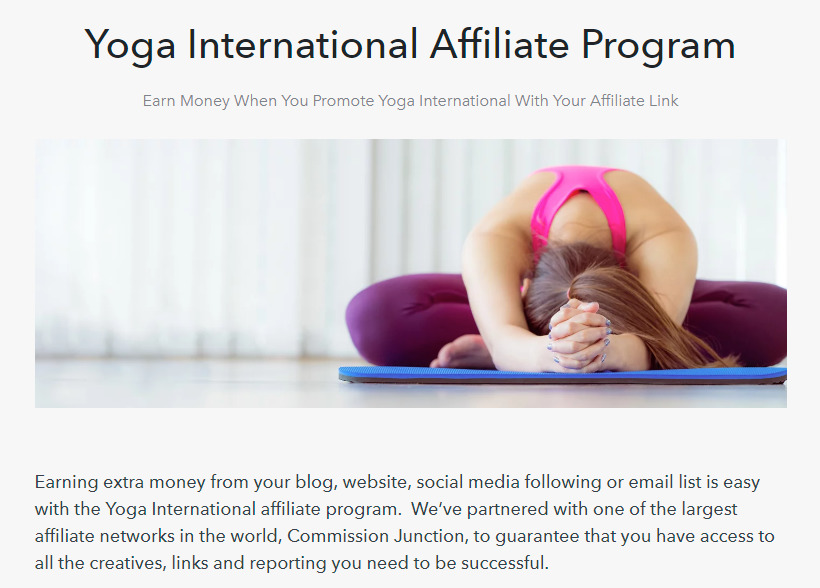 yoga international affiliate signup page