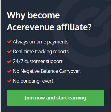 ace revenue affiliate signup page