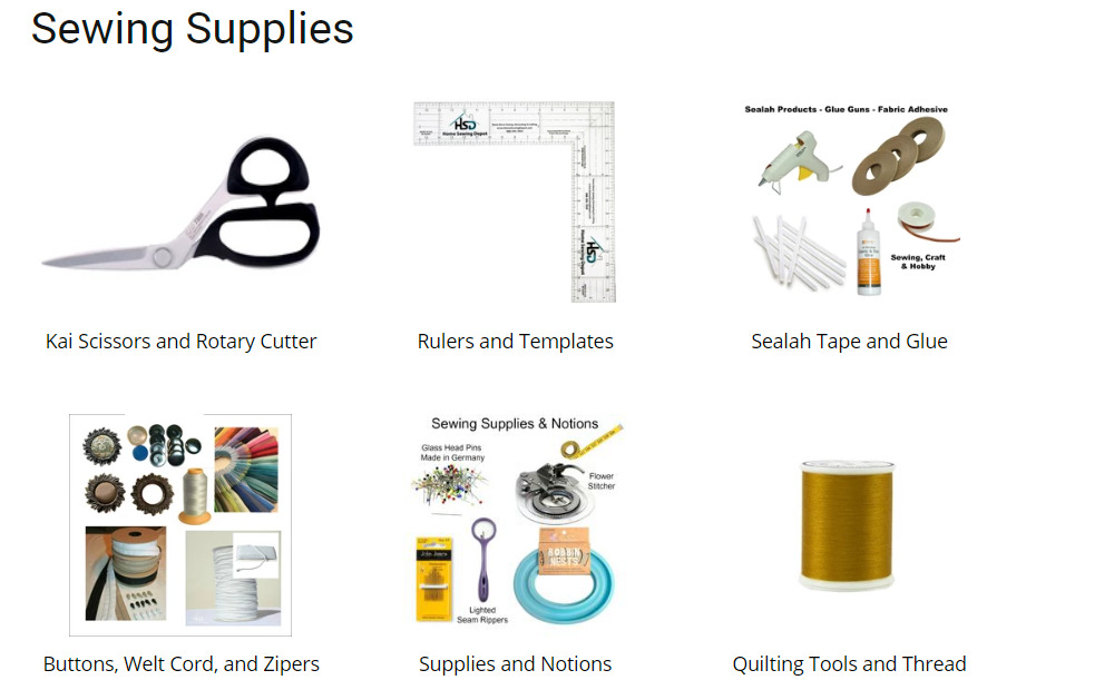 home sewing depot sewing product categories