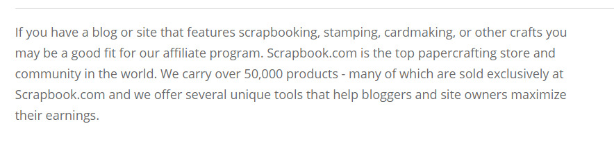 scrapbook.com affiliate signup page