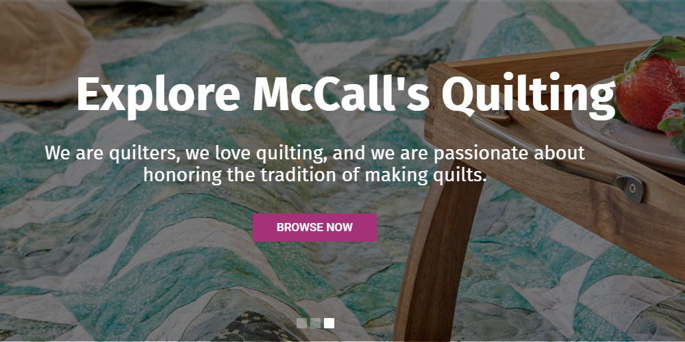 the quilting company homepage