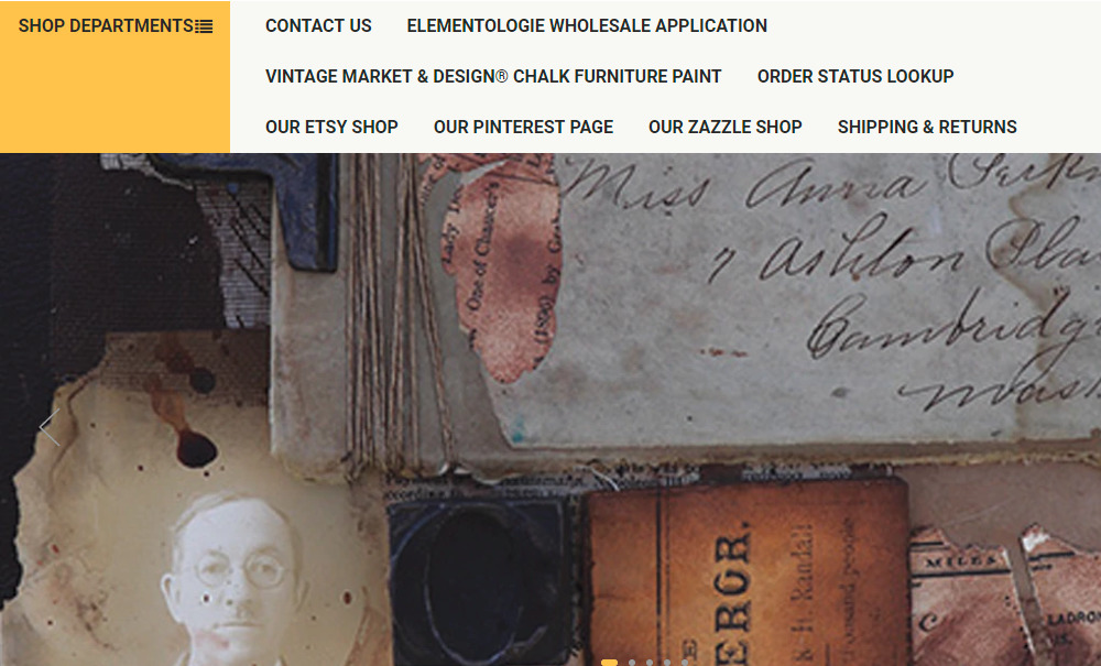 vintage paper and paint homepage