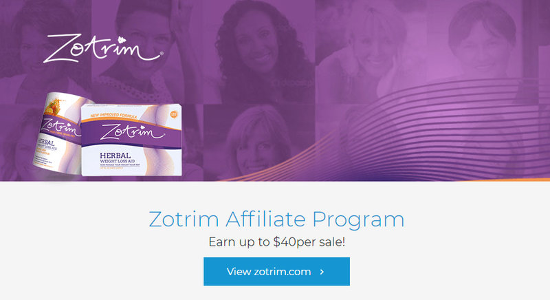 zotrim affiliate signup page