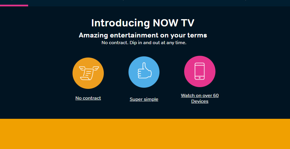 Nowtv home page