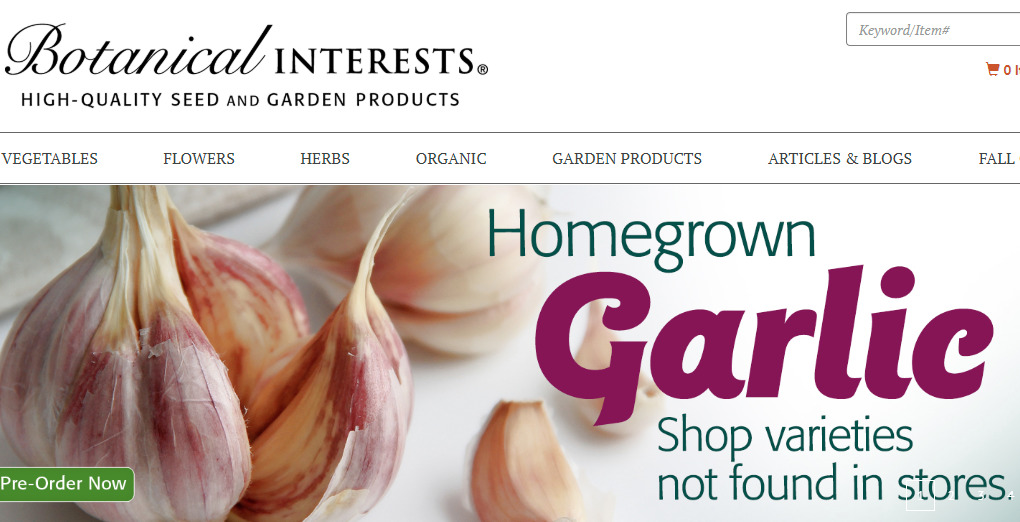 botanical interests home page
