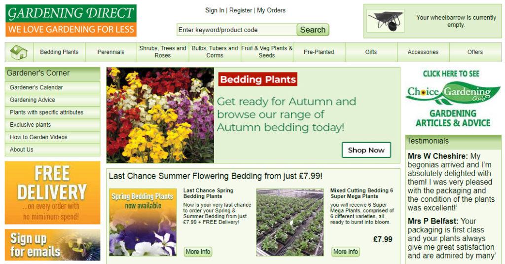 gardening direct home page