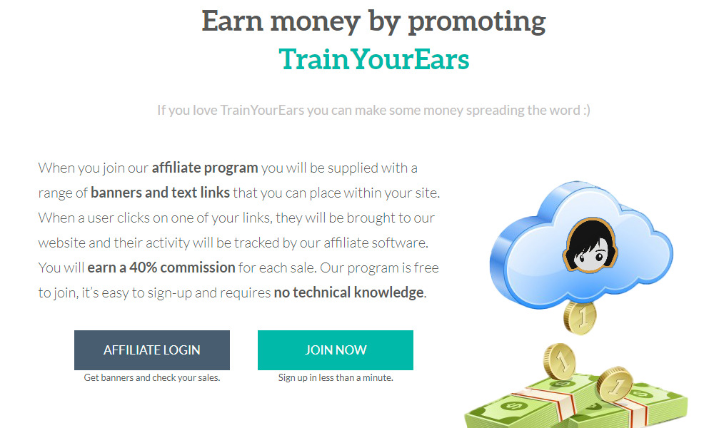 train your ears affiliate signup page