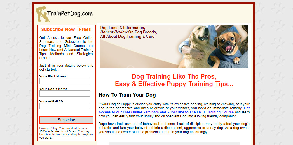 trainpetdog home page