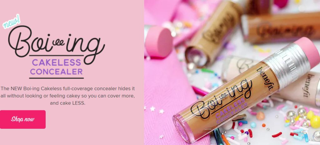 benefit cosmetics home page