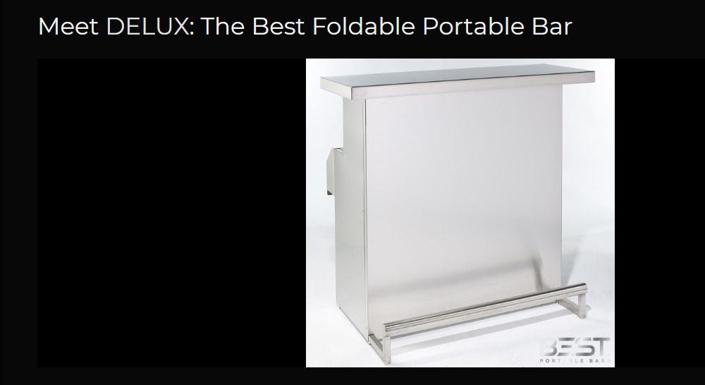 best portable bars delux product page