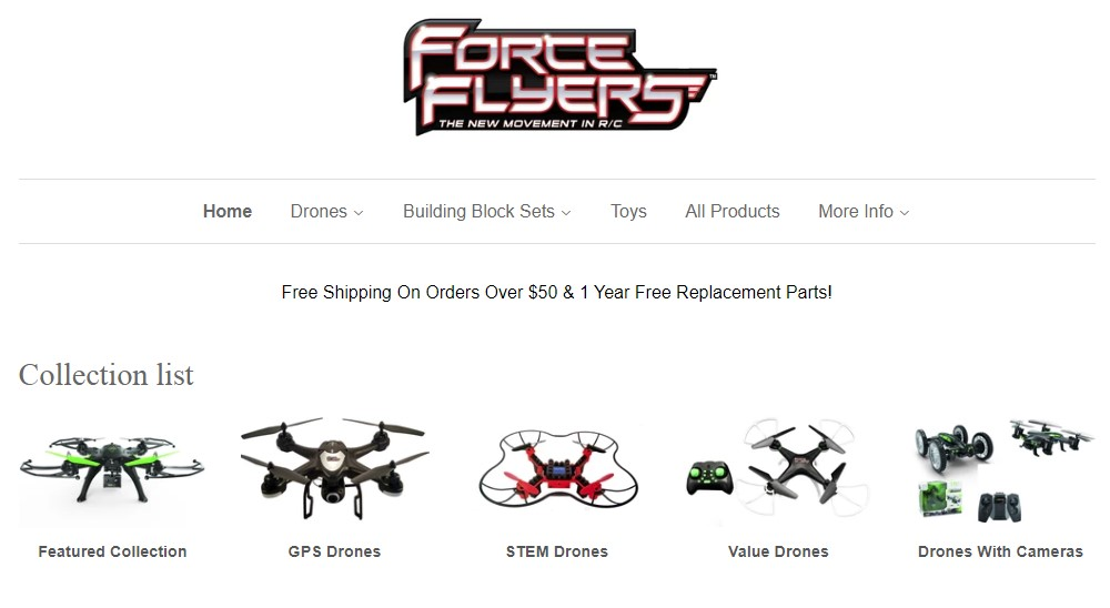 force flyers home page