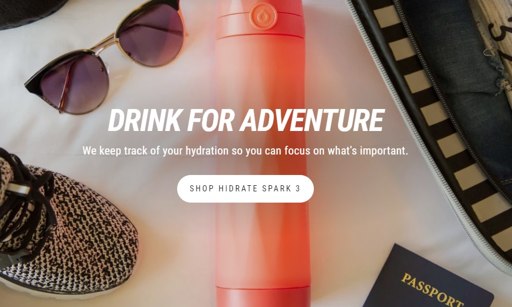 hidrate spark home page