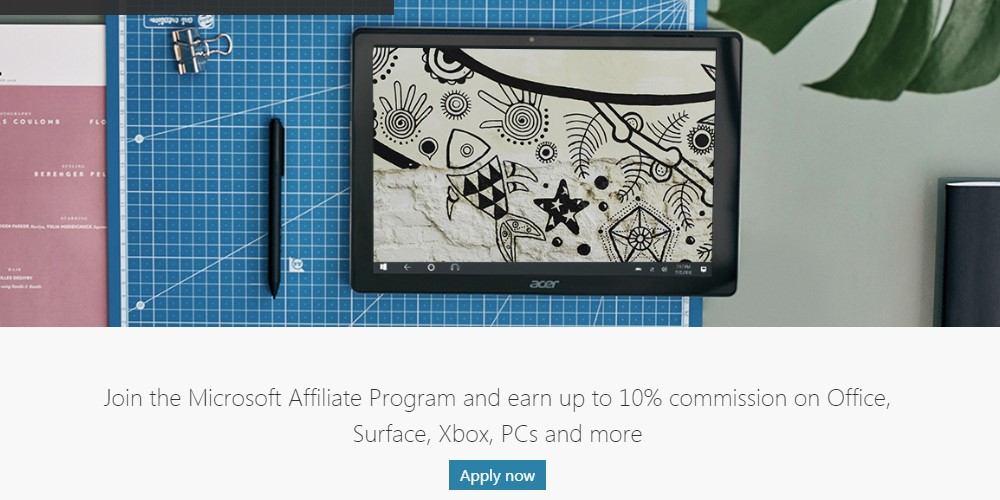 microsoft affiliate sign up page