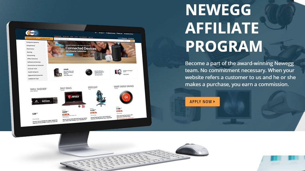 newegg affiliate signup page
