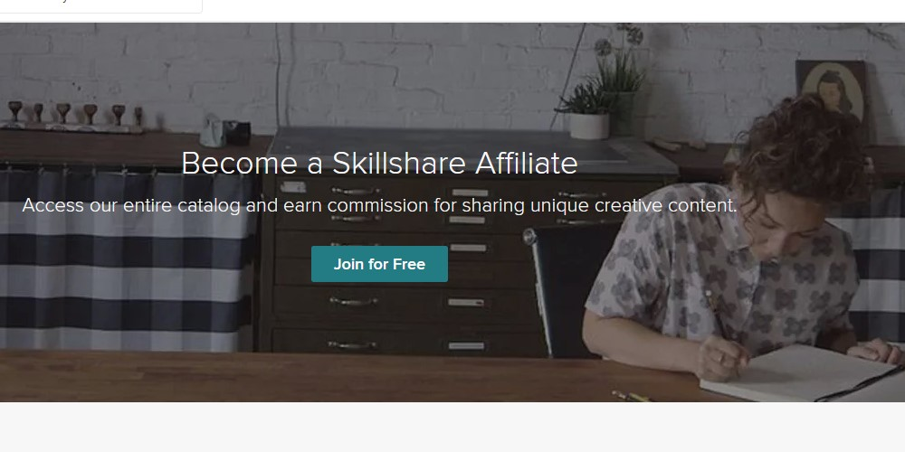 skillshare affiliate signup page