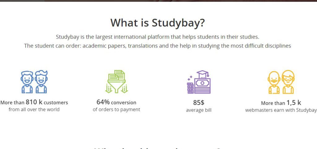 study bay affiliate signup page