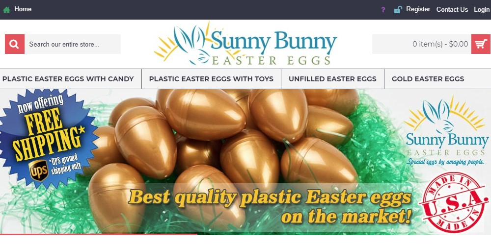 sunny bunny easter eggs home page