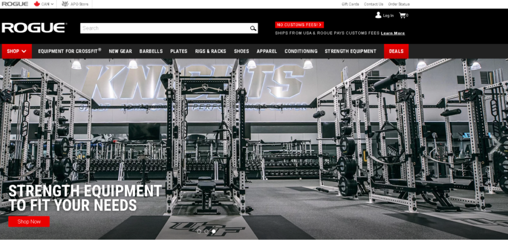 This is a screenshot of a commercial gym with all the equipment needed for strength training.