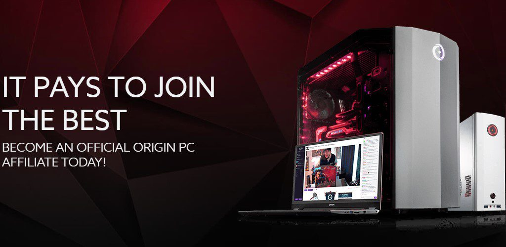 origin pc affiliate sign up page