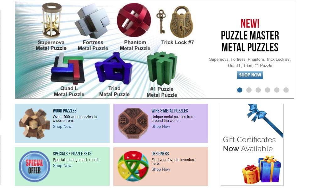 puzzlemaster home page