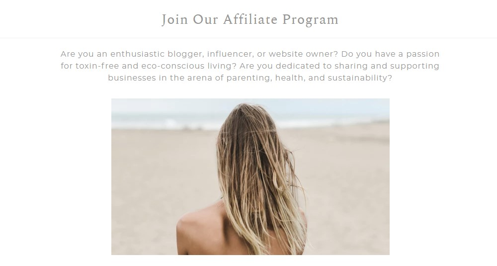 the clean collective affiliate signup page