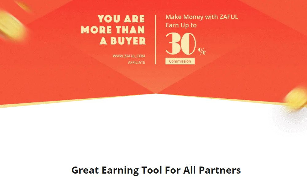 Zaful affiliate signup page