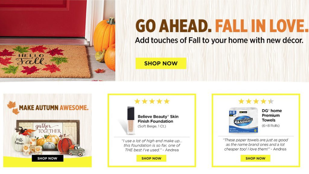dollar general home page