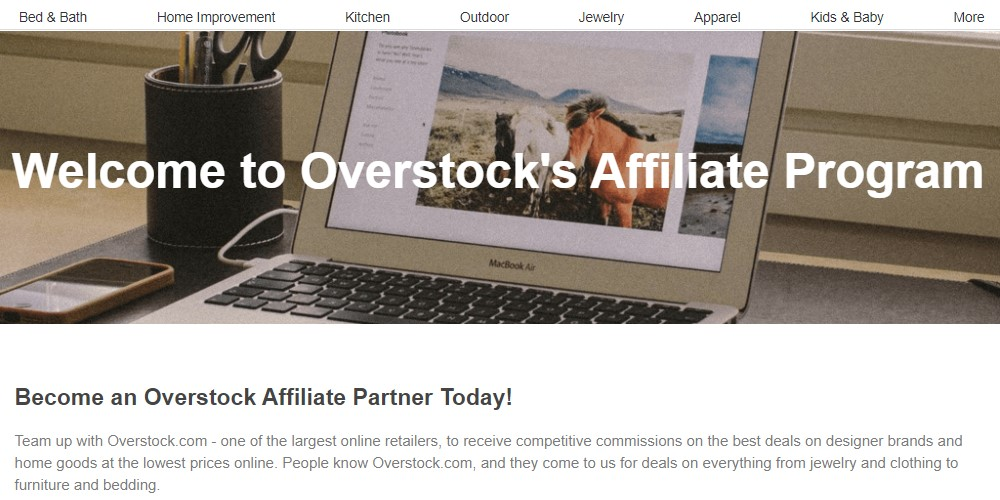 overstock affiliate program signup page