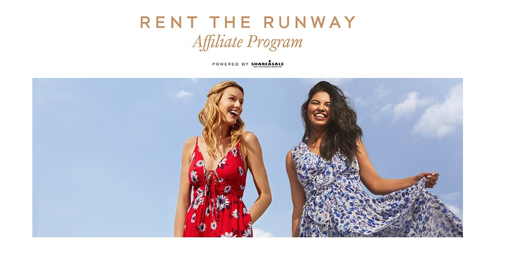 rent the runway affiliate signup page