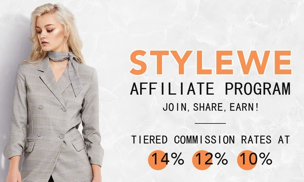 stylewe affiliate signup page