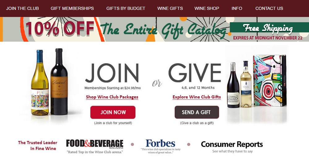 wine of the month club home page