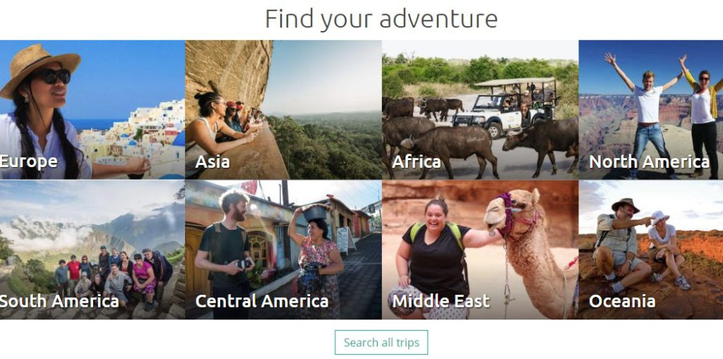Intrepid travel affiliate sign up page