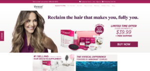 This is a screenshot of the Viviscal.com website where affiliates can refer people to buy quality hair growth supplements.
