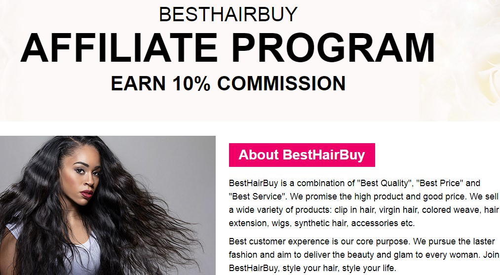 best buy hair affiliate sign up page