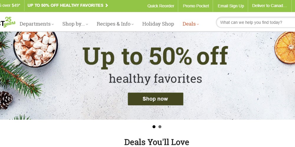 vitacost home page