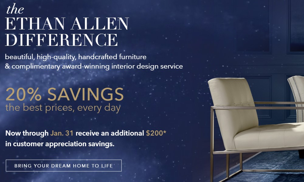 Ethan allen home page