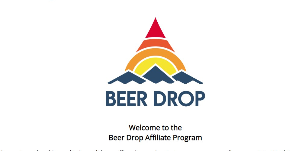 beer drop affiliate sign up page