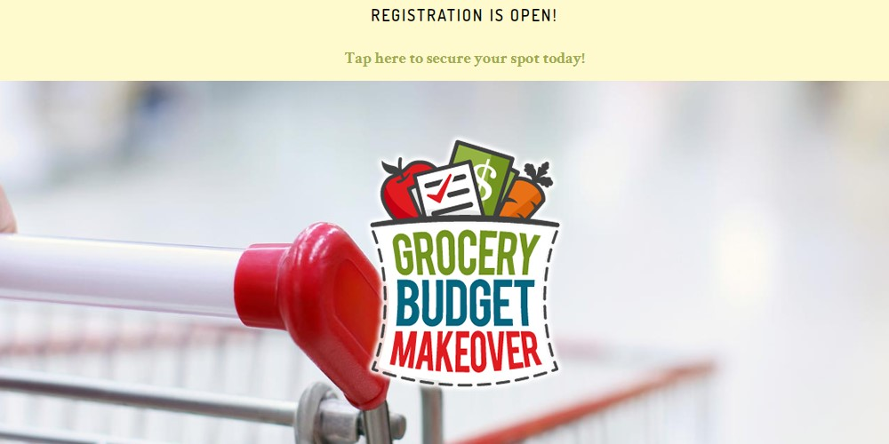 grocery budget makeover affiliate sign up page