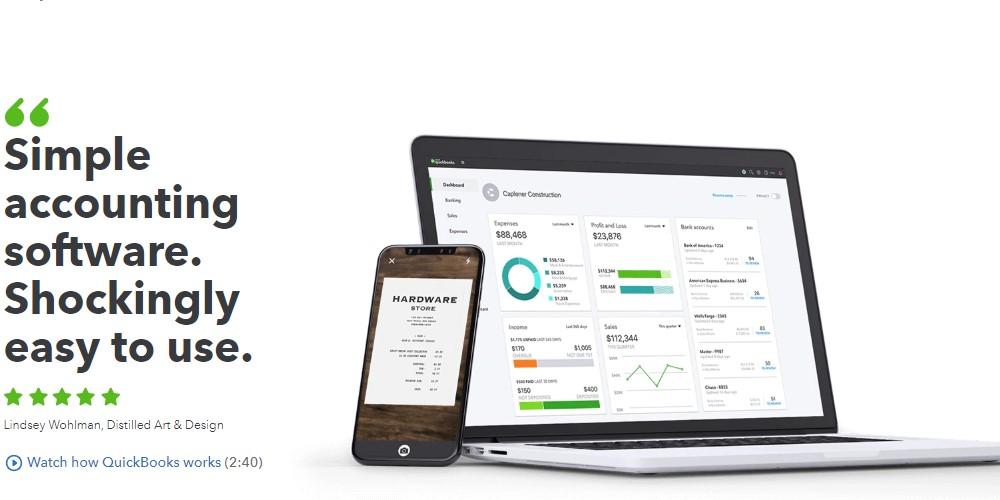 quickbooks home page