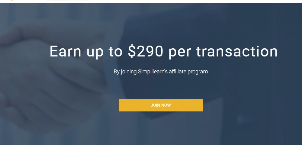 simplilearn affiliate sign up page