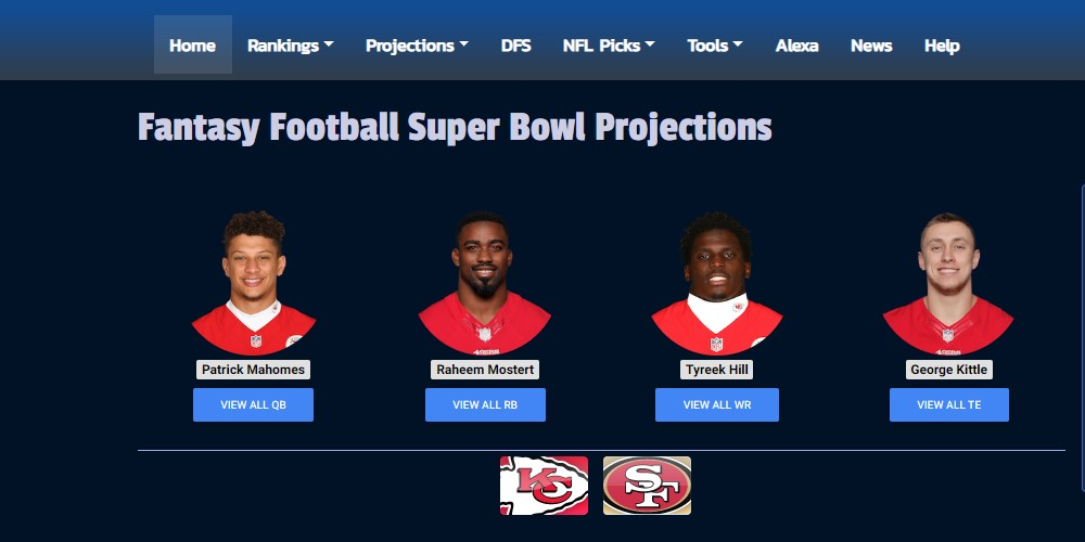 fantasy football nerd home page