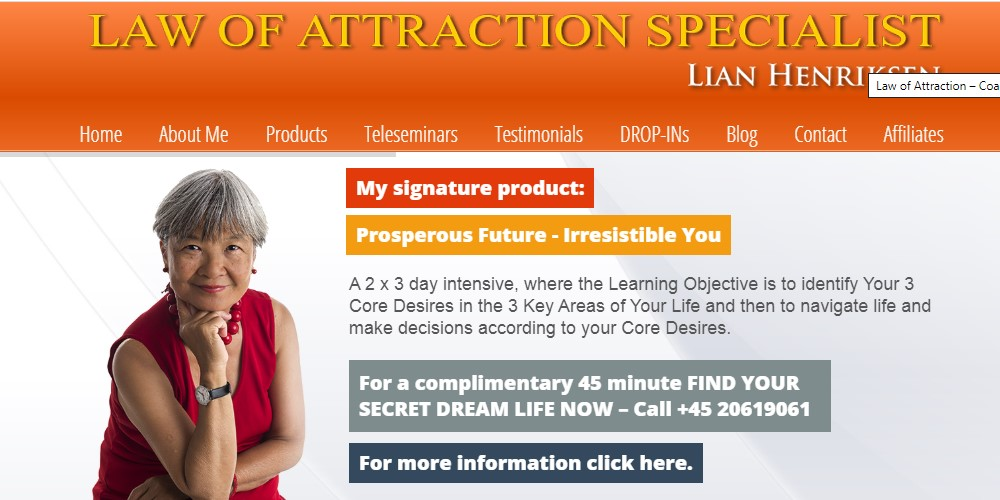 law of attraction coaching home page