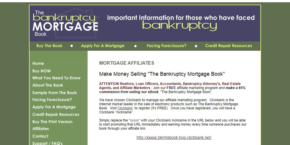 the bankruptcy mortage book home page