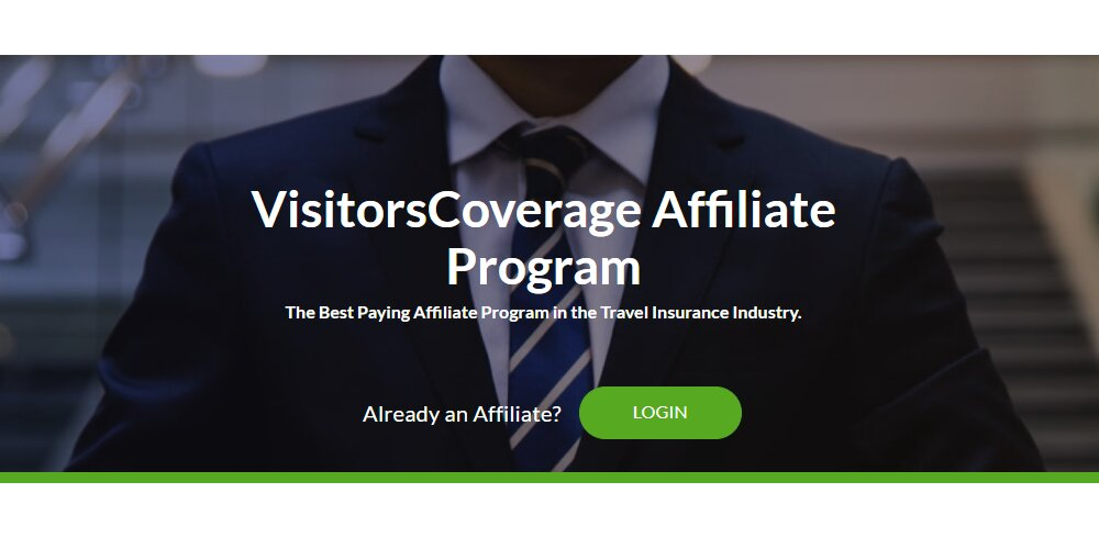 visitors coverage affiliate sign up page