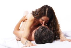 The image features a nude couple laying horizontally suggestive of intimacy. A range of adult affiliate programs can and are used by adult bloggers, sex therapists and relationship advisors to monetize adult content.
