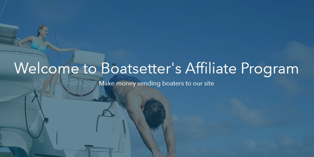 Boatsetter affiliate sign up page