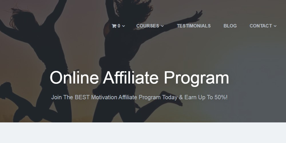 I need motivation affiliate sign up page