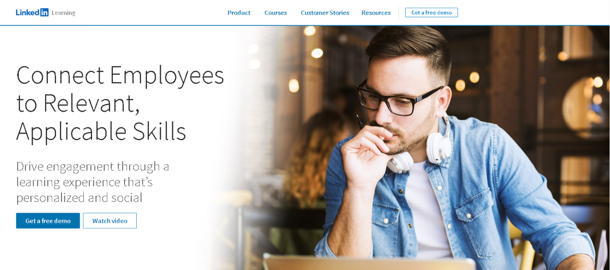 The screenshot here is taken from learning.linkedin.com, the education section of LinkedIn that's designed to teach employees the skills employers need.