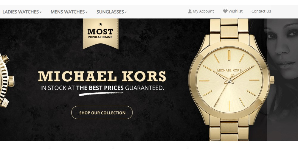 Luxer Watches home page