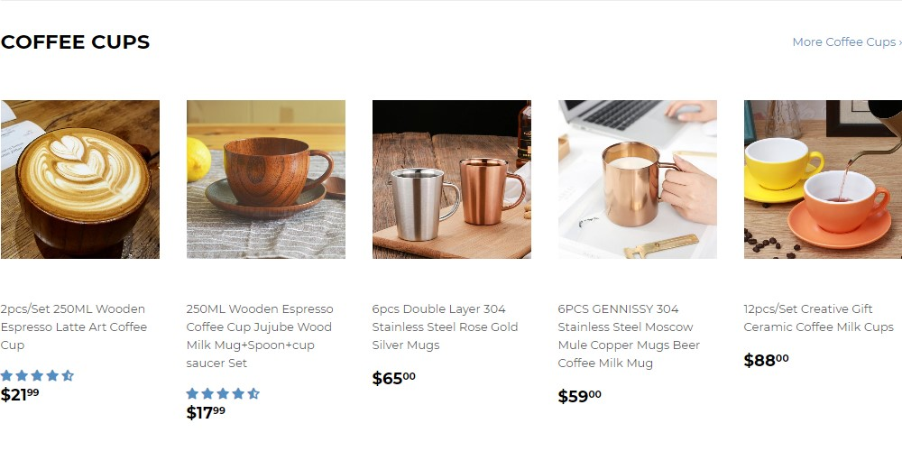 barista space product page